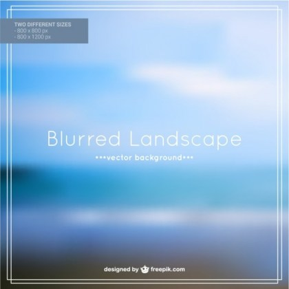 Free Blurred Beach Landscape Free Vector