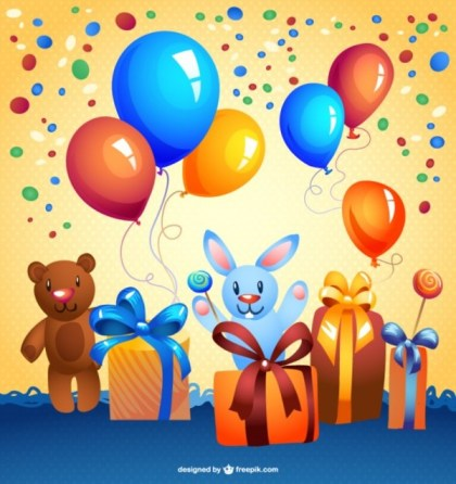 Free Cartoon Birthday Card Free Vector
