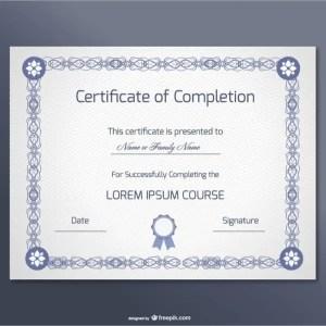 Free Certificate Design Free Vector
