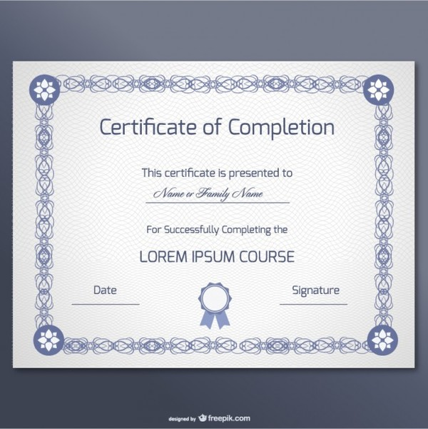Free Certificate Design Free Vector