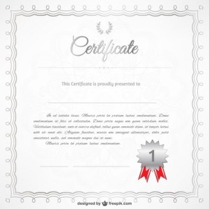 Free Certificate Template Free Vector
