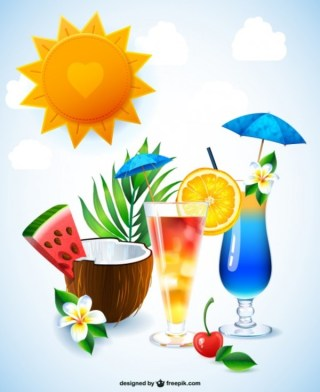 Free Cocktail Drinks Illustration Free Vector
