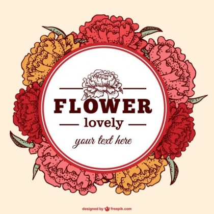 Free Floral Greeting Card Free Vector