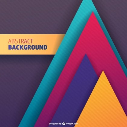 Free Geometric Shapes Background Free Vector