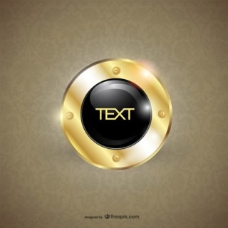 Free Gold Round Design Template Free Vector