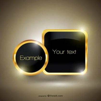 Free Golden Luxury Template Free Vector