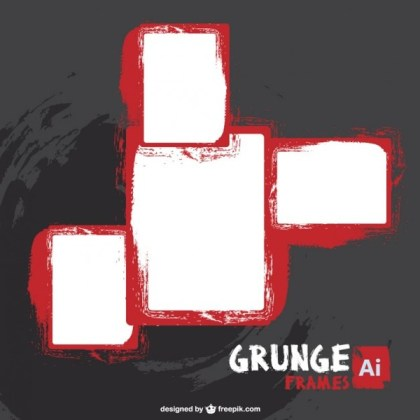 Free Grunge Frames Free Vector