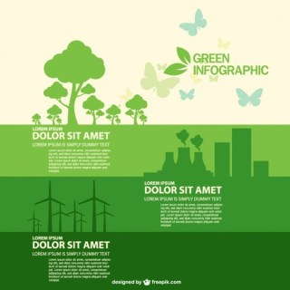 Free Infographic Ecology Style Free Vector