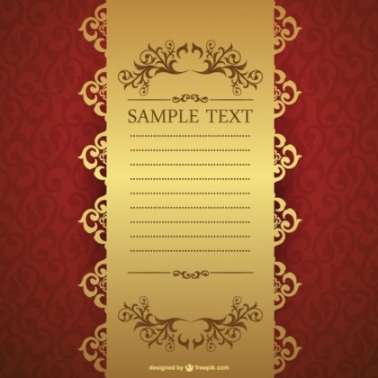 Free Invitation Template Free Vector