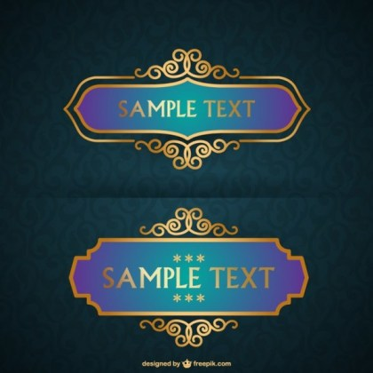 Free Luxurious Frames Collection Free Vector