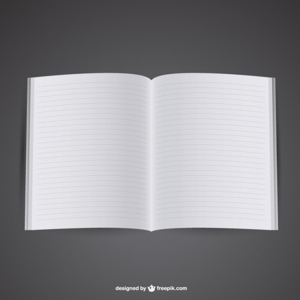 Free Mockup of Opened Notebook Free Vector