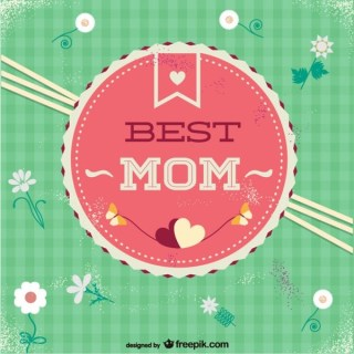 Free Mother's Day Best Mom Badge Free Vector