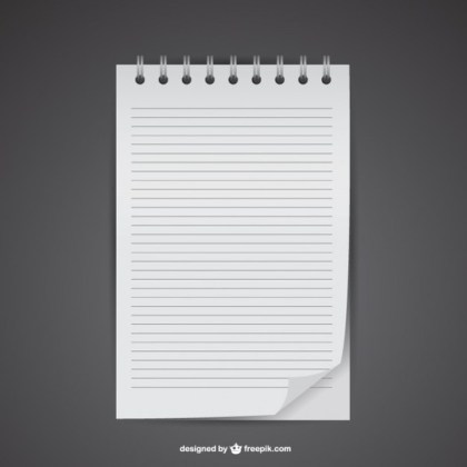 Free Notebook Mockup Free Vector