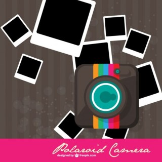 Free Polaroid Camera Design Free Vector