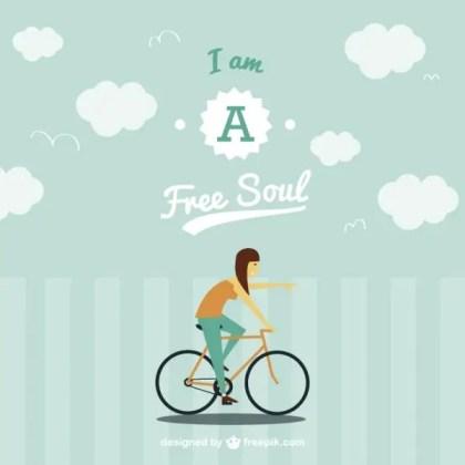 Free Spirit on Bike Image Free Vector