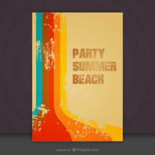 Free Summer Beach Teamplate Invitation Free Vector