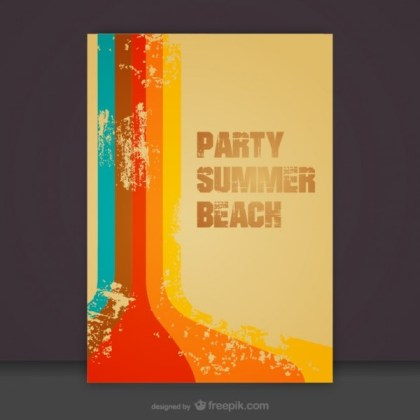 Free Summer Beach Teamplate Invitation Free Vector