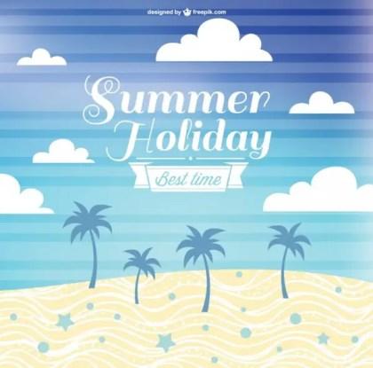Free Summer Holiday Design Free Vector