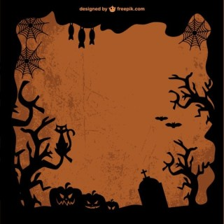 Free Template Art of Halloween Free Vector
