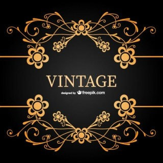 Free Vintage Ornamental Floral Template Free Vector