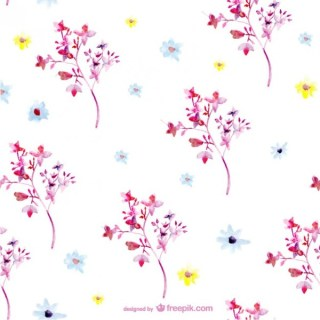 Free Watercolor Pattern Design Free Vector
