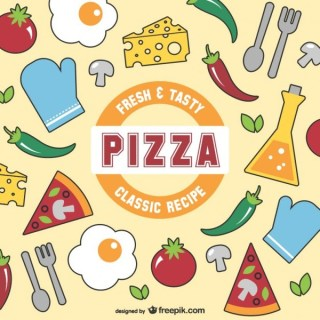 Fresh and Tasty Pizza Free Vector