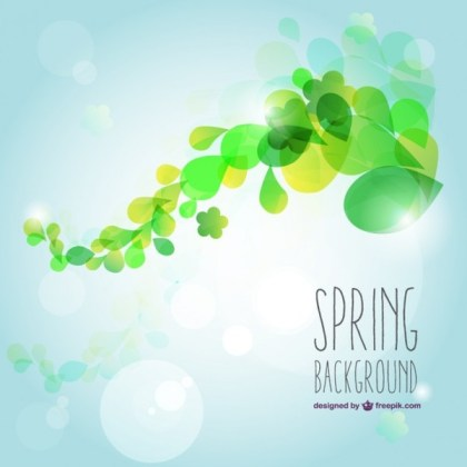 Fresh Spring Background Free Vector