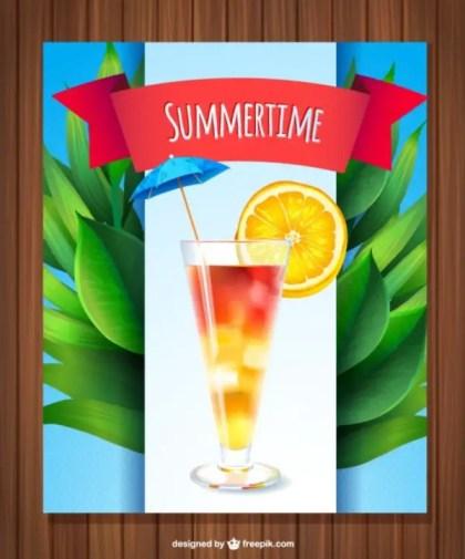 Fresh Summer Drink Free Vector