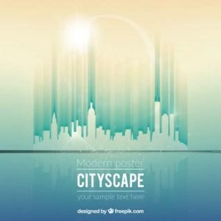 Futuristic City Free Vector