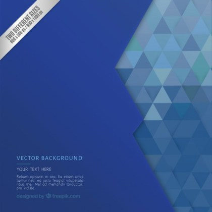 Geometric Background in Blue Tones Free Vector