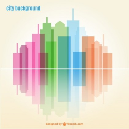 Geometric City Background Free Vector
