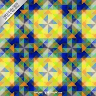 Geometric Shapes Pattern Free Vector