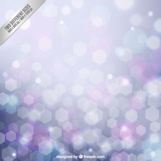 Geometrical Background in Bokeh Style Free Vector
