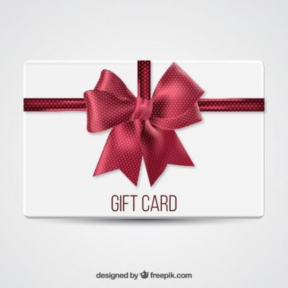 Gift Card with A Big Bow Free Vector