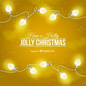 Gilded Christmas Card Free Vector