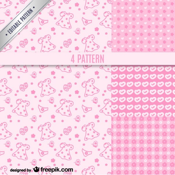 Girly Pattern Free Vector