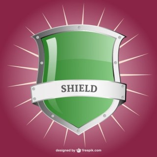 Glossy Shield Template Free Vector