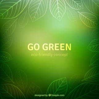 Go Green Background Free Vector
