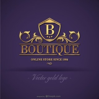 Gold Boutique Logo Design Free Vector