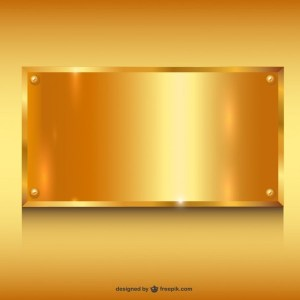 Gold Metal Banner Background Free Vector