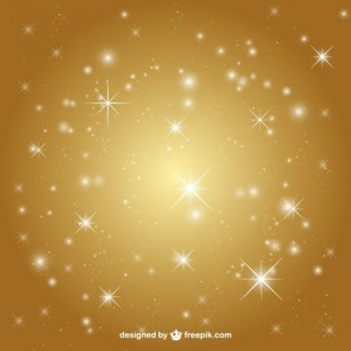 Golden Background with Stars Free Vector