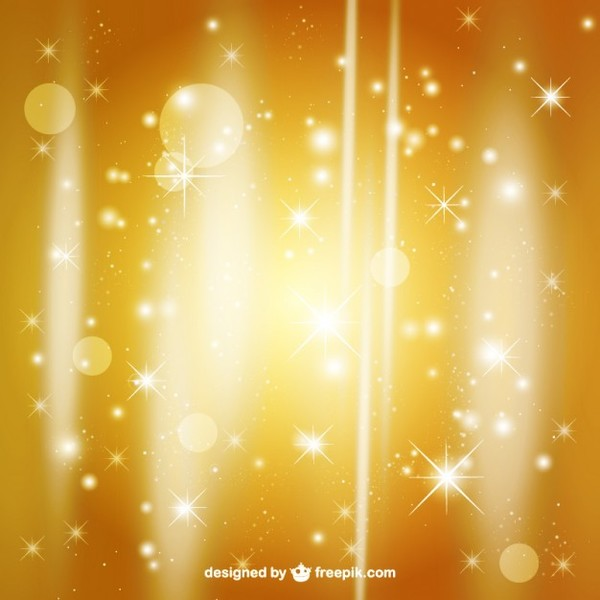 Golden Christmas Background Free Vector
