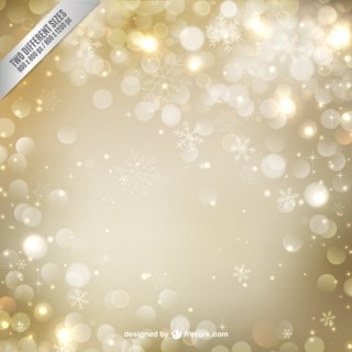 Golden Christmas Background with Sparks Free Vector
