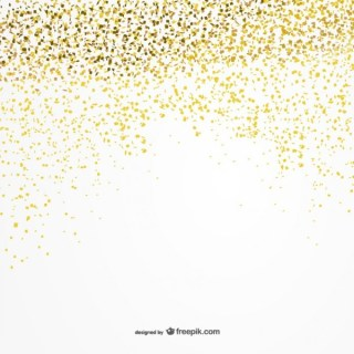 Golden Confetti Background Free Vector