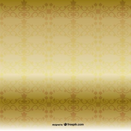 Golden Pattern Background Free Vector