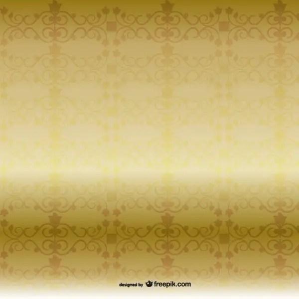 Golden Pattern Background Free Vector