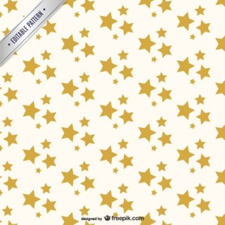 Golden Stars Pattern Free Vector