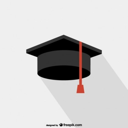 Graduation College Hat Free Vector