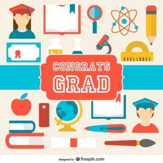 Graduation Congratulations Card Free Vector