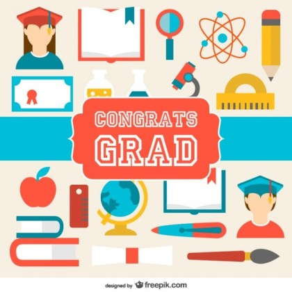 Graduation Congratulations Card Free Vector